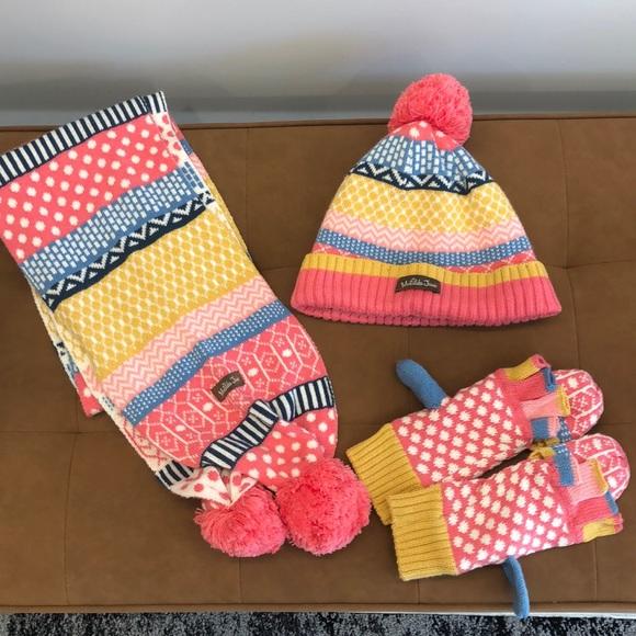SOLD LOCAL Matilda Jane hat mitten and scarf set